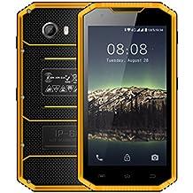 Kenxinda W8 4G LTE Smartphone IP68 Underwater Dustproof Shockproof 5.5 Inch HD IPS Screen 16GB/2GB Android 5.1 Camera 8.0MP Military Grade Mobile Phone (Yellow)