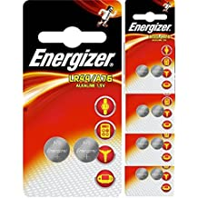 10 Energizer LR44 / AG13 / A76 Pack de 10 pilas alcalinas, largo duracion (fecha de caducidad marcado)