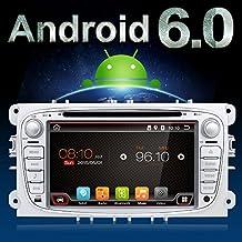 """Android 6.0Quad-Core WiFi modelo 7""""Full pantalla táctil Ford Focus coche DVD reproductor de CD GPS 2DIN estéreo GPS navegación libre cámara, Canbus, color plateado"""