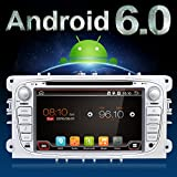 Android 6.0 Quad-Core WiFi Model 17,8 cm Full touch-screen Ford Focus auto lettore CD DVD GPS 2 DIN stereo GPS Navigation free fotocamera, Canbus, color argento