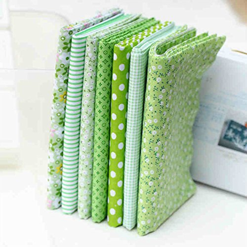 tela-paquete-de-la-serie-7-surtido-per-cut-fat-quarters-bundle-flor-del-remiendo-50x50cm-verde