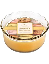 WoodWick by pajoma 50245 bougie yankee candle pineapple macaron macarron-temps de combustion : environ 20 heures...