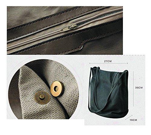 Leinentasche Einkaufstasche Umhängetasche Duffel Bag Reisetasche Mehrfarbig
