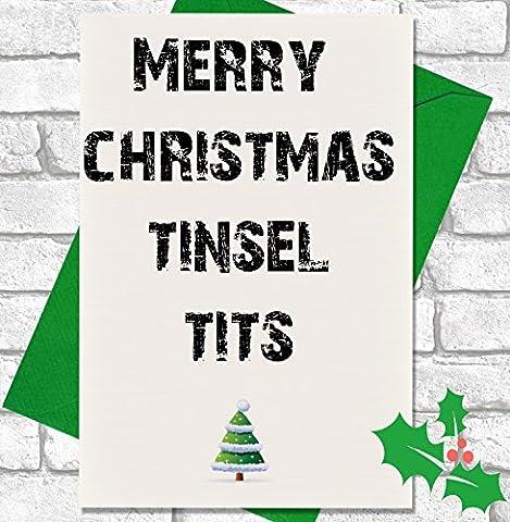 Weihnachtskarte, englischer Text