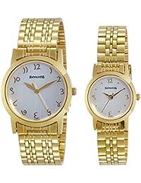 Sonata Analog White Dial Unisex Watch-NK71178137YM01