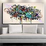 Colorful graffiti street pop art quadri astratti su tela pittura ad olio per soggiorno camera da letto decorazione 40 * 80 cm No Frame