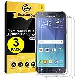 [3 Pack] Samsung Galaxy J5 2015 Pellicola Protettiva, Nearpow Pellicola Protettiva in Vetro Temperato per Samsung Galaxy J5 2015 [2.5D Bordi Arrotondati][3D Toccare Compatibile][Elevata Durezza][Garanzia a Vita]