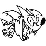 Bat Devil Laugh - Cartoon Decal [15cm Black] Vinyl Removable Decorative Sticker for Wall, Car, Ipad, Macbook, Laptop, Bike, Helmet, Appliance, Instrument, Motorcycle, Suitcase by Leon Online Box