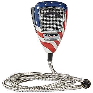 Astatic 4-Pin Stars N Stripes Noise Canceling Radio Microphone