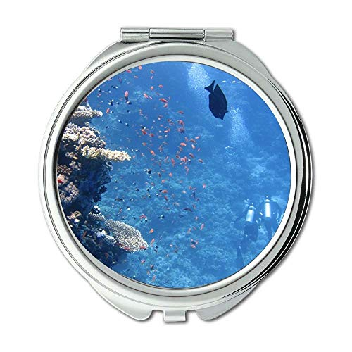 Yanteng Spiegel, Travel Mirror, Tiere Korallen tief, Taschenspiegel, tragbarer Spiegel