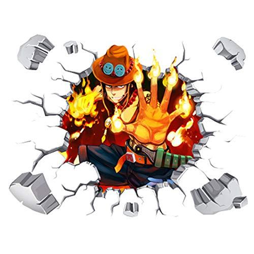 JUNMAONO One Piece Cómic Pegatina De Pared/PVC Póster De Pared/Mural