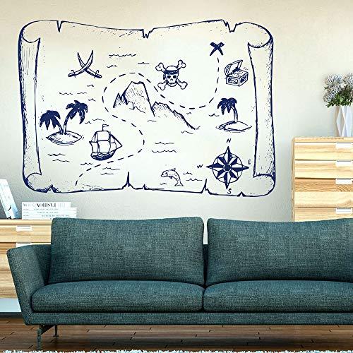 Big Mandala Elephant Pattern Wandtattoo Kinderzimmer Schlafzimmer Jungle Elephant Animal Wandaufkleber Kinderzimmer Vinyl Dekoration ~ 1 45 * 31 cm