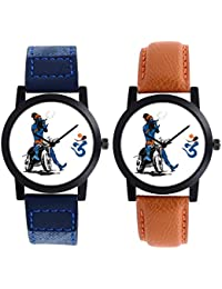 A R Sales Combo Of 2 Analog Watch For Mens And Boys 102-103