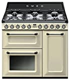 SMOKER TR93PD Gaskocher A Crema Color - Küche (Einzelkocher, Cremefarben, Drehbar, Front, Gaskochfeld, klein)