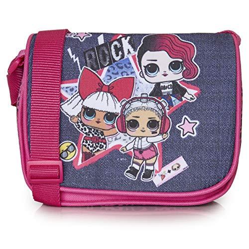 L.o.l. surprise! borsa lol surprise bambina con stampa bambole rocker, diva e beats | borsetta a tracolla bambina, borsello bambina tracolla, borsa a spalla per ragazze