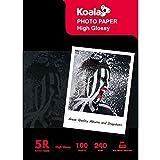 KOALA Heavywight Carta Fotografica per Canon HP Epson stampante a getto d' inchiostro, 18x13 cm, 100 fogli, 240 g/m²