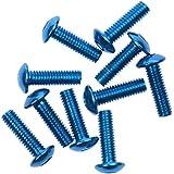 10x Tornillos Pernos Marco de Matrícula Aluminio Decorativos Cubren 16x5mm / 20x6mm - Azul 16x5mm