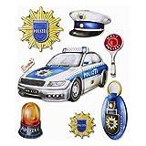 3D XXL-Sticker Polizei