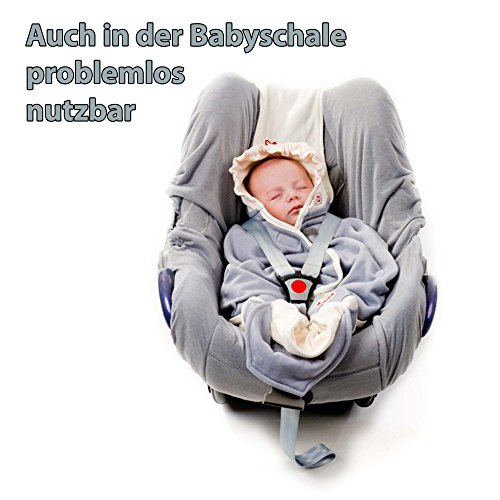 Lodger Shelter 2.0 - 3in1 Babytrage, Babytragetuch, Babysling sowie Transportdecke für Babys und Eltern, ab Geburt bis 18 Monate (max. 12kg), Sicheres Verschlusssystem, Trage-Tuch für Babys und Kinder, Schönes Design, Neu und OVP - 3
