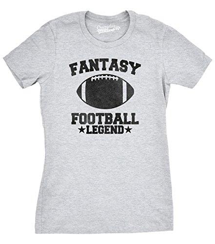 Crazy Dog Tshirts Womens Fantasy Football Legend T Shirt Funny Favorite Sport Team Tee For Ladies (Grey) XXL - Damen - XXL (Football Legend T-shirt Fantasy)