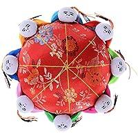 Welecom Oriental aguja alfiletero con 8niños, rojo