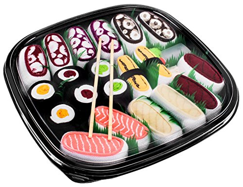Rainbow Socks - Donna Uomo Calzini Sushi Mix Nigiri e Maki - 10 Paia - Taglia UE 41-46