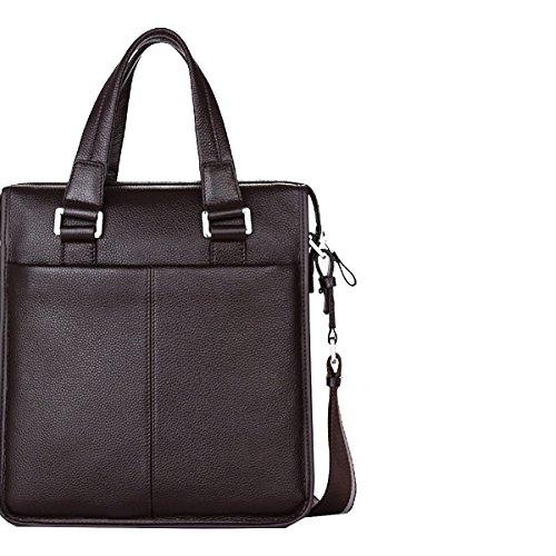Yy.f Leder Mann Tasche Umhängetasche Geschäft Mannkurierbeutel Erste Schicht Aus Leder Handtaschen Taschen Einfarbig 2-Farben-Beutel Black