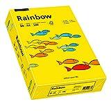 Papyrus 88042387 Drucker-/Kopierpapier farbig, Bastelpapier: Rainbow 80 g/m², A4 500 Blatt, Matt, intensivgelb