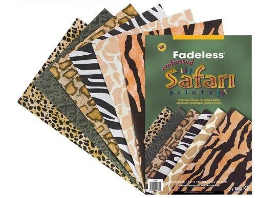 Farbechtes Papier mit Tier-Print, 24 Seiten Tiermotive: Zebra, Schlange, Tiger, Gepard, Giraffe, Alligator (Zebras Und Geparden)