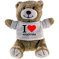 Peluche oso Classic I Love Argentina Beige