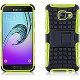 Galaxy A3 (6) 2016 Hülle, JAMMYLIZARD [ ALLIGATOR ] Doppelschutz Outdoor-Hülle für Samsung Galaxy A3 (6) 2016, LIMONENGRÜN