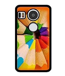 Fuson 2D Printed Color Designer back case cover for LG Google Nexus 5X - D4381