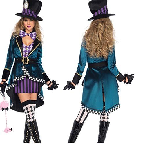 Alice der verrückte Hutmacher Kostüm für Erwachsene für Halloween Night Club Trainer - Trainer Kostüm Halloween