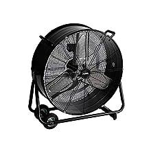 Ventilateur de sol Perel CFAN0460, orientable, hauteur 75,50 cm, 220 – 240 V c.a, 50 Hz, 330 W, gris