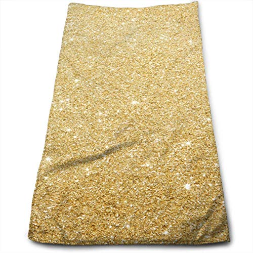 DAICHAI Gold Frosted Background Super Soft, Machine Washable and Highly Absorbent,Towel(Wash Clothes, Face Towels, Fingertip Towels for Home, Gym or Sports