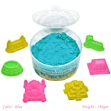 #7: Asian Hobby Crafts Kinetic Sand with 6 Sea Creatures/Castle Shaping Tools for Sand Modelling, Kids Activities and DIY Crafts, Blue