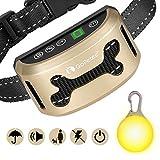 GoPetee Neuste 3in1 Anti-Bell Halsband für Hunde Ohne Schock Spray Vibrationshundehalsband,Hundebellen Stoppen mit Ton & Vibration,7 Verstellbare Stufen,sicher und Harmlos(Lade-Upgrade)