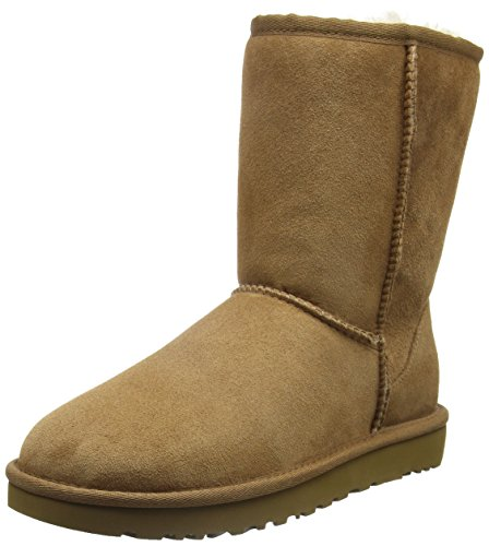 WCLASSICSHORTII1016223CHE Ugg Chaussure mi montantes Femme Chamois Marron clair, Beige, 41
