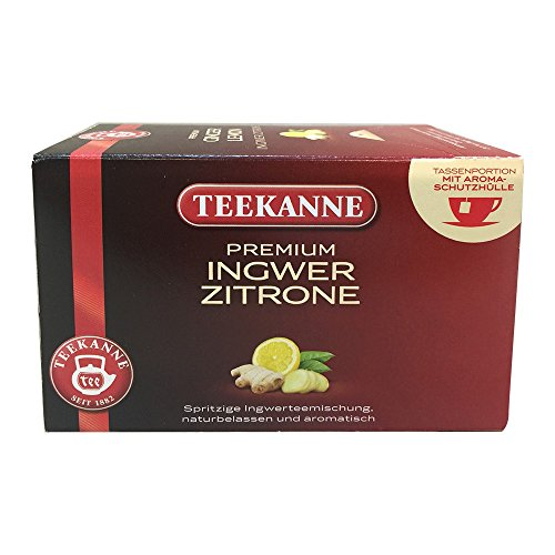 TEEKANNE Premium Ginger Lemon - Teebeutel - Kräuter - 35 g - Packung mit 20