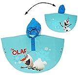 Unbekannt Regenponcho / Regencape -  Disney die Eiskönigin - Frozen / Olaf  - Gr. 110 - 116 - 122 - Circa 4 bis 6 Jahre - für Kinder - Mädchen & Jungen - Fahrrad / Re..