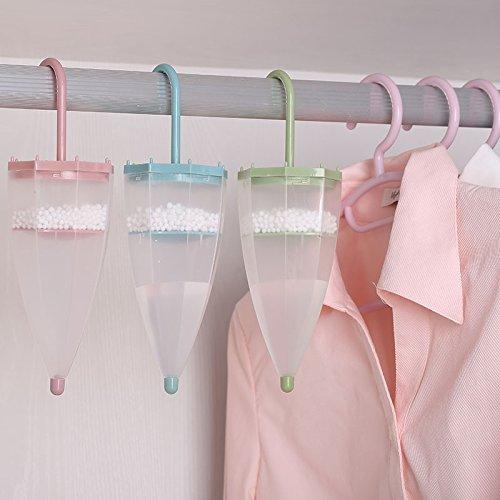 Kleiderschrank Luftentfeuchter zum Aufhängen Box, Regenschirm Form auswechselbare Feuchtraum Trockenmittel mit Mine Tasche für Home Interior Schlafzimmer Badezimmer weiß