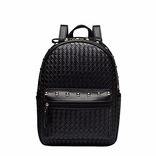 neuer stil, freizeit, schule pu - leder - lady rucksack.,die silbernen schwarz