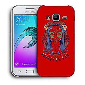 Snoogg Skeleton Hair Designer Protective Back Case Cover For SAMSUNG GALAXY J2 2016