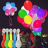 Tomkity 50 x Palloncini LED Palloncini Luminosi Luce Led Multicolori per Decorazione Natale Festa Matrimonio Compleanno