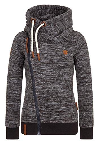 Naketano Female Zipped Jacket Dreisisch Euro Swansisch Minut Anthracite Melange, L