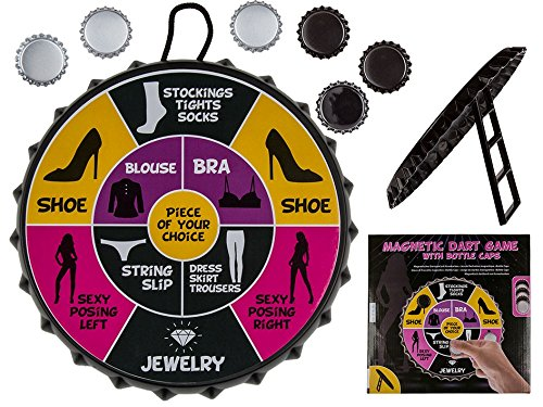 erotisches magnetisches Dartspiel Bottle Cap ,Durchmesser ca. 22 cm inkl. Kronkorken Darts