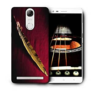 Snoogg Single Feather Printed Protective Phone Back Case Cover For Lenovo K5 Note