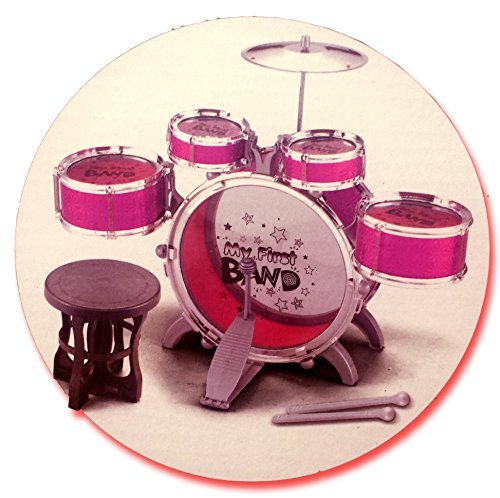 large-red-my-first-big-band-drum-set-si-ty1028-w-stool-music-toy-instrument-kids-percussion-musical-