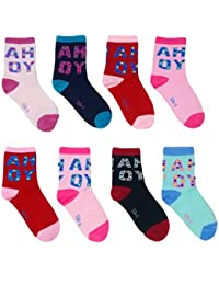eselpro Baby Boy's and Girl's Cotton Ankle Length Socks (DMGBABYSET8, Assorted, 12-24 Months)