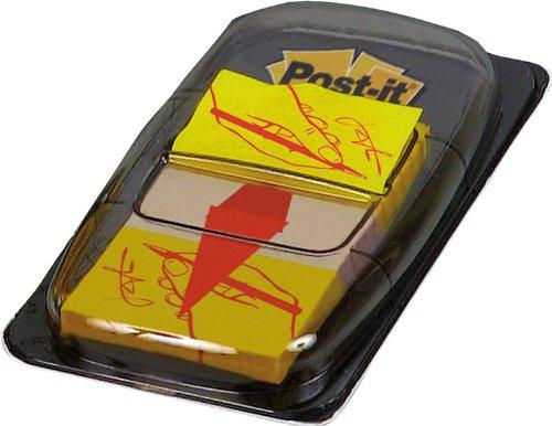 Post-It 680-31 - Índices adhesivos (12 unidades, 25.4 x 43.2 mm), amarillo